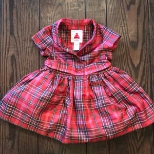 Baby Gap Plaid red dress with tulle lining